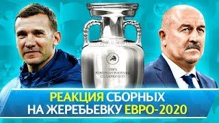РЕАКЦИЯ СБОРНЫХ НА ЖЕРЕБЬЕВКУ ЕВРО 2020