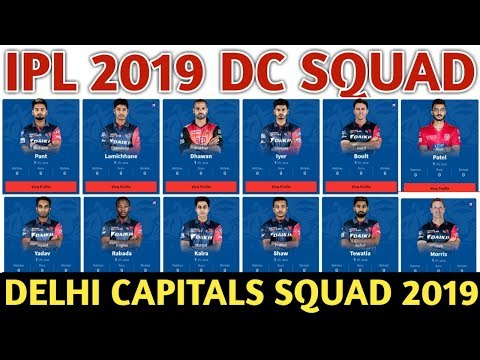 IPL 2019 Delhi Capitals Team Squad | Delhi Capitals Confirmed And Final Squad For IPL 2019