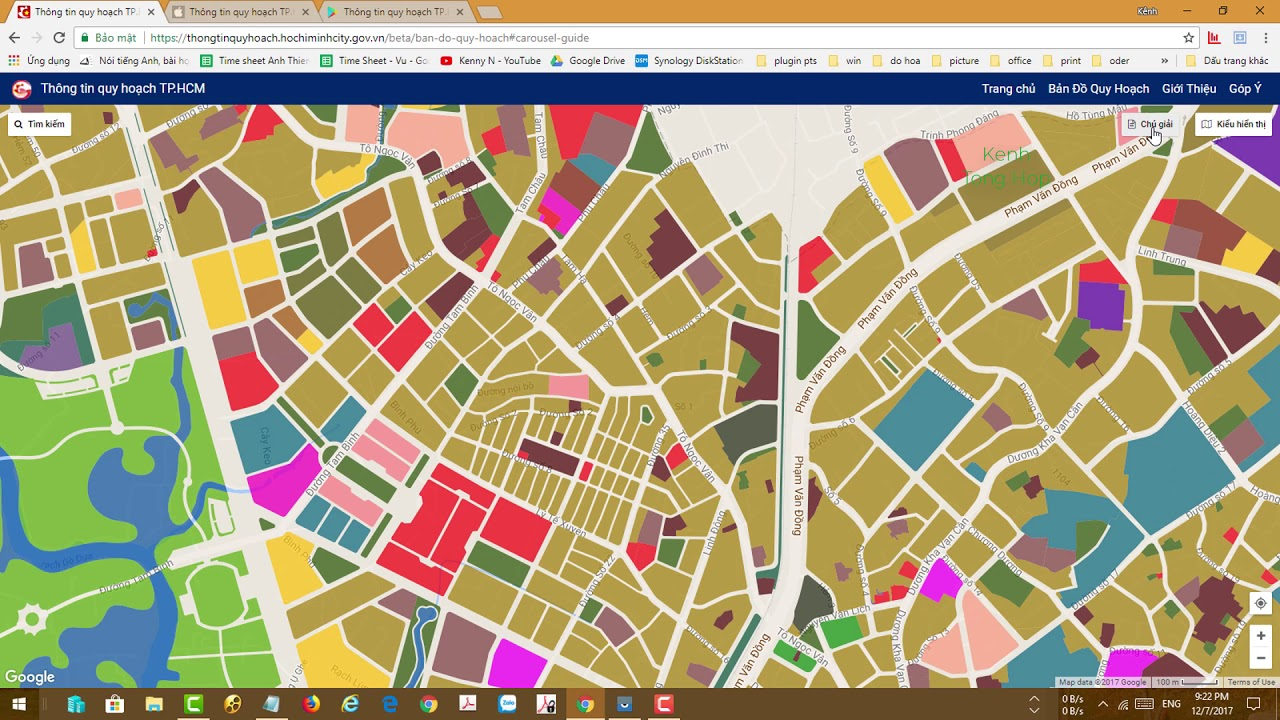 Cách tra cứu thông tin Quy Hoạch nhà đất TP.HCM bằng máy tính và smartphone 2017