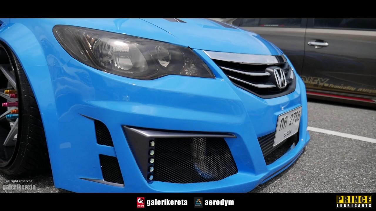 honda civic fd body kit custom modified  race day thailand  youtube