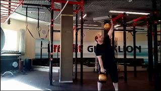 """По мотивам """"гиревой мельницы"""" Кондратьева... Kettlebells: 40 kg + 40 kg and 48 kg + 48 kg."""
