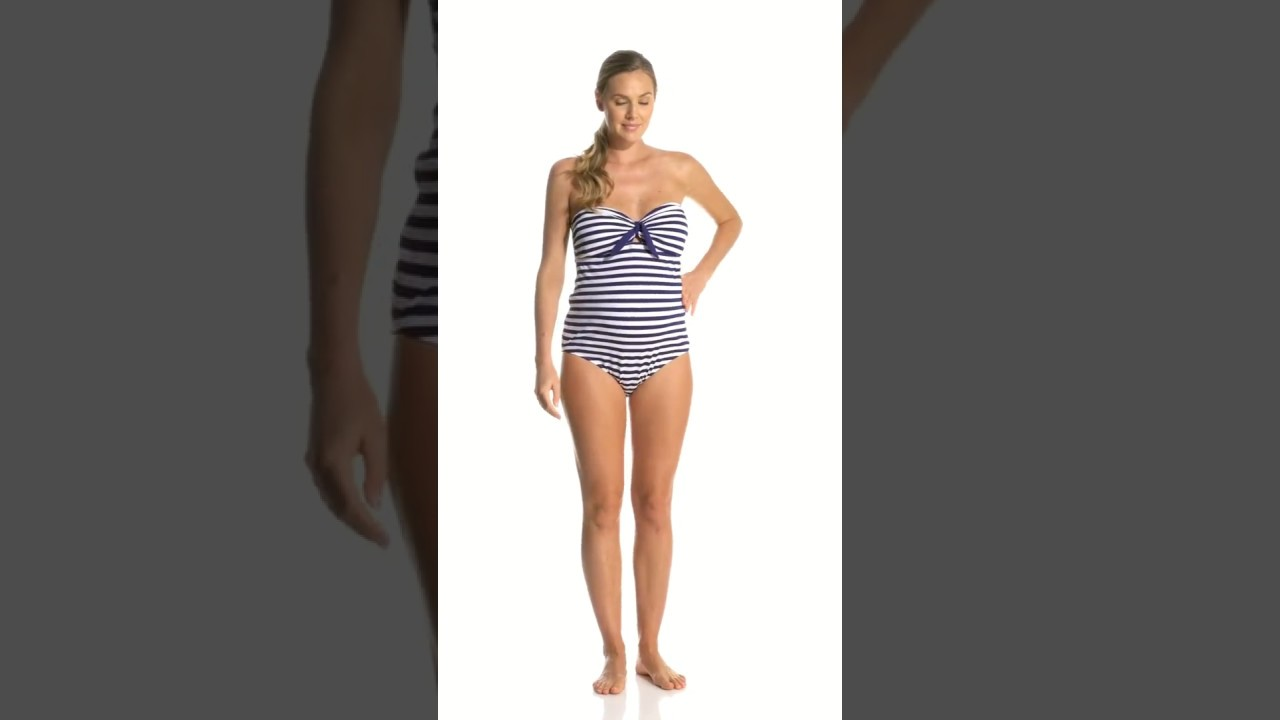 197cf73679b97 Pez D'or Maternity Rimini Textured Marine Striped One Piece Swimsuit |  SwimOutlet.com