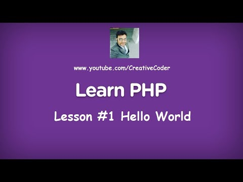 Hello World program in PHP | PHP Tutorial Lesson #1 | By Parth Joshi
