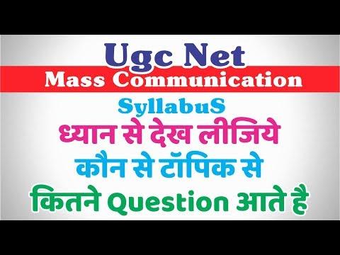 Ugc Net Mass Communication And Journalism Syllabus