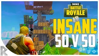 NEW 50v50 FORTNITE BATTLE ROYALE MODE! - CRAZY BASE BUILD! (Fortnite 50vs50 Gameplay #1)