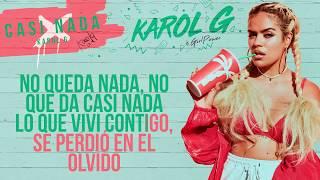 Karol G - Casi Nada [ Karaoke]
