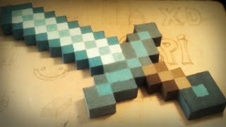 Minecraft homemade Diamond Sword - gyémántkard házilag