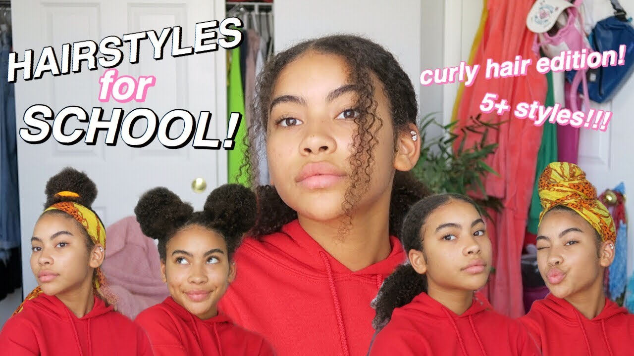 Easy Natural 3c 4a Curly Hairstyles For Back To School Youtube