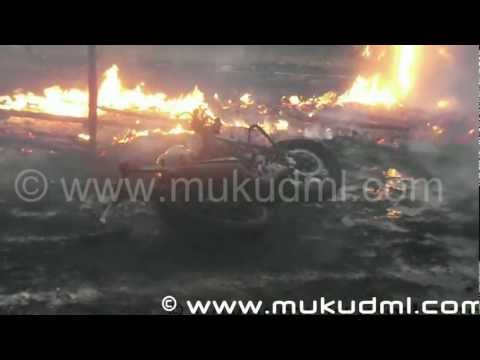 Fire Accident In Damauli During Guiness World Record [HD]