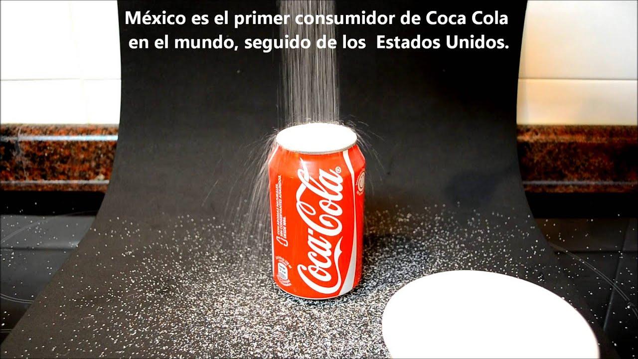 Cuanta azucar contiene una lata de Coca Cola y otras