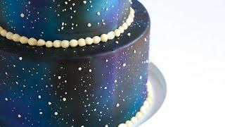 Airbrushed Galaxy Cake Tutorial- Rosie's Dessert Spot