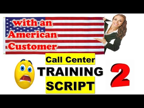 Training WITH AN AMERICAN CUSTOMER???????? -Mock Call Sample Recording With Call Flow Guide: Part 2