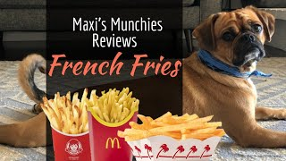 Maxi Reviews French Fries! #DogReview #Pugalier #ASMR