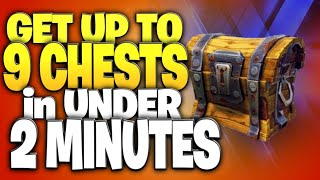 How To Get Up To 9 Treasure Chests In 2 Minutes (Fortnite Battle Royale)