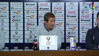 Rueda de prensa de Ramis tras el CA Osasuna vs Albacete BP (2-0)