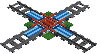 How to Build LEGO Train Rail Crossing MOC