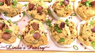~ Deviled Eggs -cajun Spicy- With Linda's Pantry~