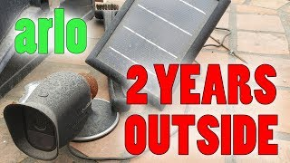 Arlo Pro Camera and Solar Panel Left Outside for 2 years!!!