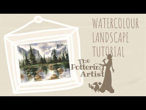 Watercolor Landscape Tutorial - Yosemite - National Parks