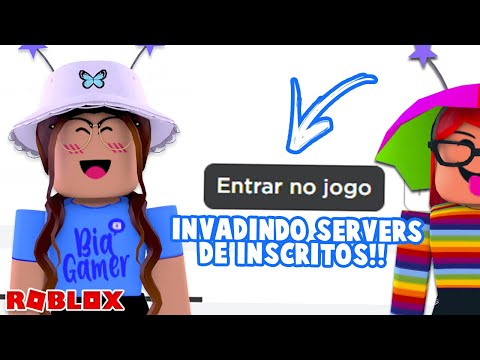 INVADINDO SERVERS DE INSCRITOS NO ROBLOX!! #2 I BiaGamer
