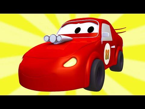 Tom o caminhão de reboque e a Super Patrulha com Carros de Corrida na Cidade do Carro 🏎️