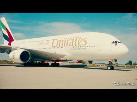 Arrival of the first scheduled a380 service at Amsterdam airport Schiphol