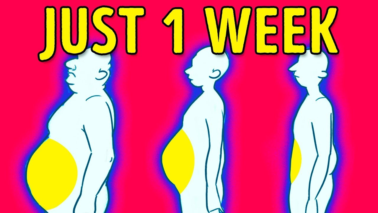 a0a07dc65fd 4 Steps to Lose Belly Fat in 1 Week - YouTube