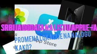 Srbija dodata na listu Apple-a,appstore,icloud,promena lokacije na nalogu
