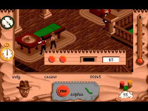 PC-DOS Indiana Jones and the Fate of Atlantis, Action Game (Level 1 casino)