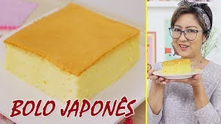 Receita Bolo Fofinho Pão de Ló Japonês – Bolo Kasutera