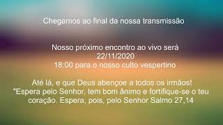 Live IPH 22/11/2020 - Escola Bíblica Dominical