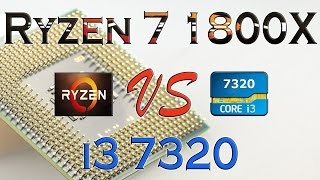 rYZEN 7 1800X vs i3 7320 BENCHMARKS / GAMING TESTS REVIEW AND COMPARISON / Ryzen vs Kaby Lake
