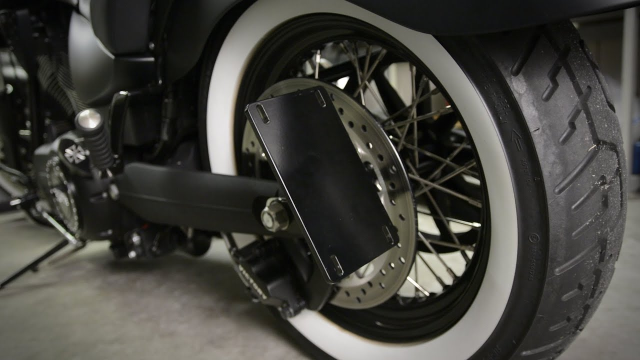 Whitewall Choppers License Plate Mount Youtube