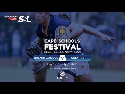 Cape Schools: Boland Landbou 1st XV vs Grey High 1st XV, 01