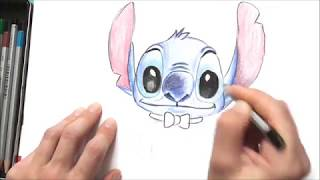 Draw and painting Stitch from Disney