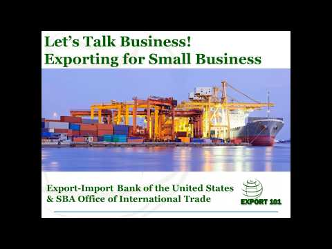 Let's Talk Business! Exporting for Small Business