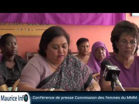 Maurice Info - Conférence de presse Commission des femmes du MMM