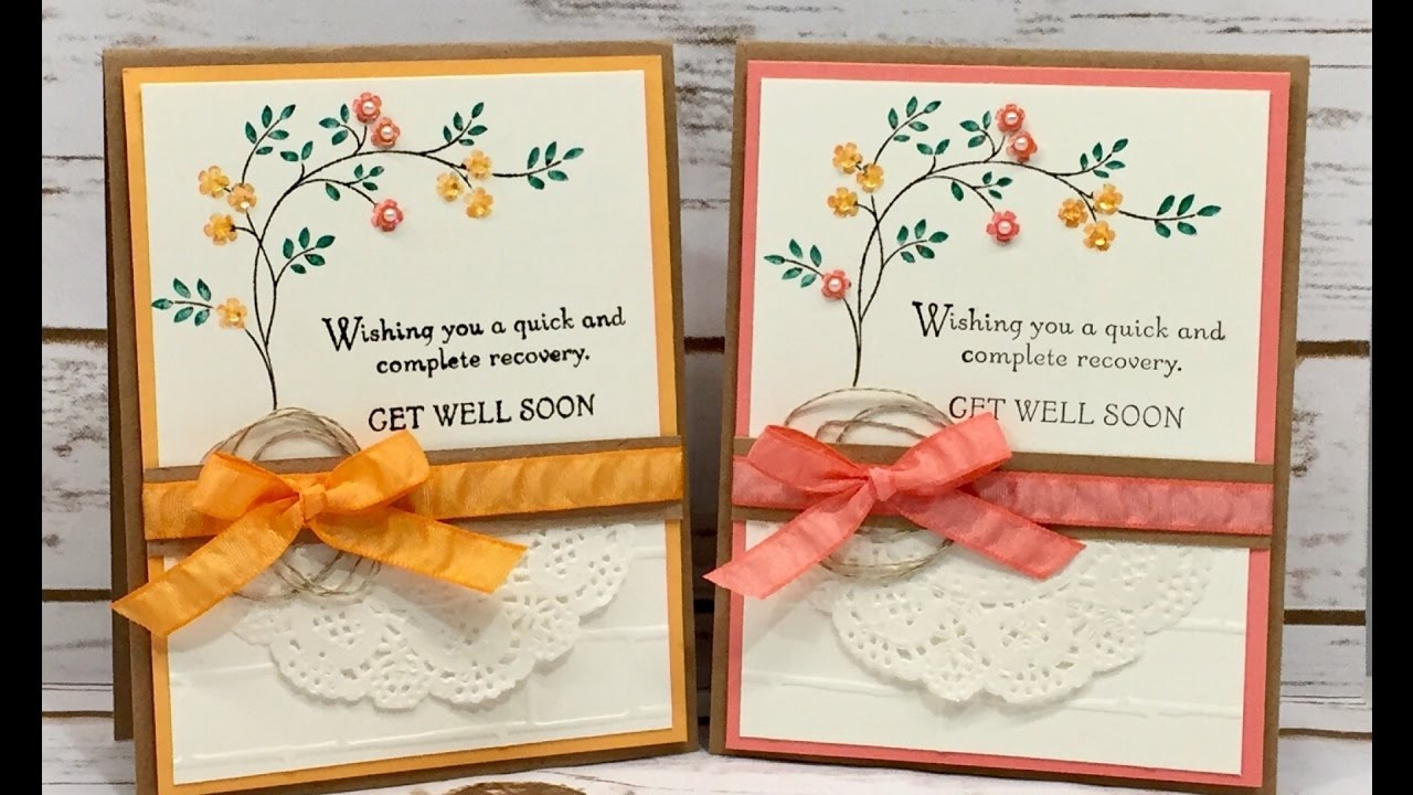 Thoughts Amp Prayers Get Well Soon Stampin Up YouTube