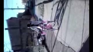 Girl fallen of bike. Freakin hilarious!!!