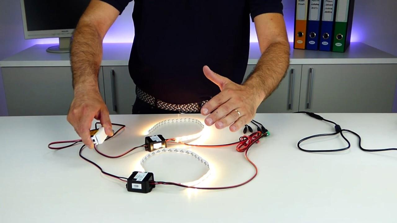 Schema Elettrico Per Accensione Led : Accendere zone di strisce led con un solo pulsante youtube
