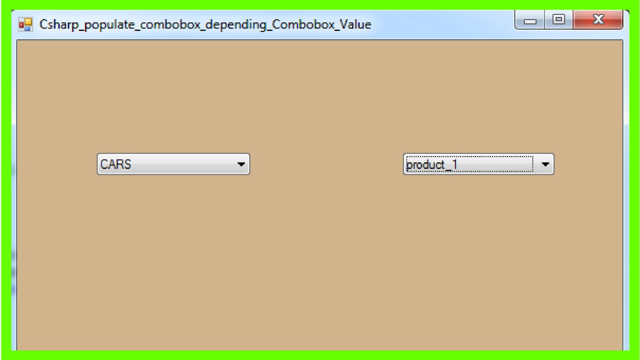 C# And MySQL - Populate Combobox Depending On Another Combobox In C# [ with  source code ]