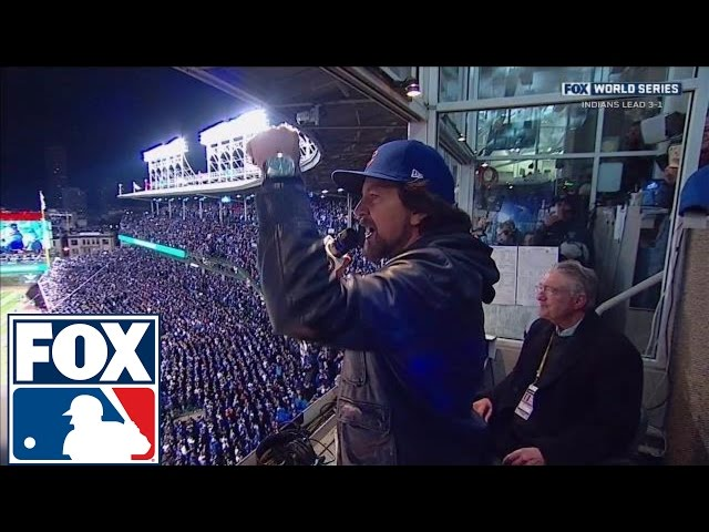 Eddie Vedder sings 'Take Me Out to the Ballgame' at Cubs' World Series