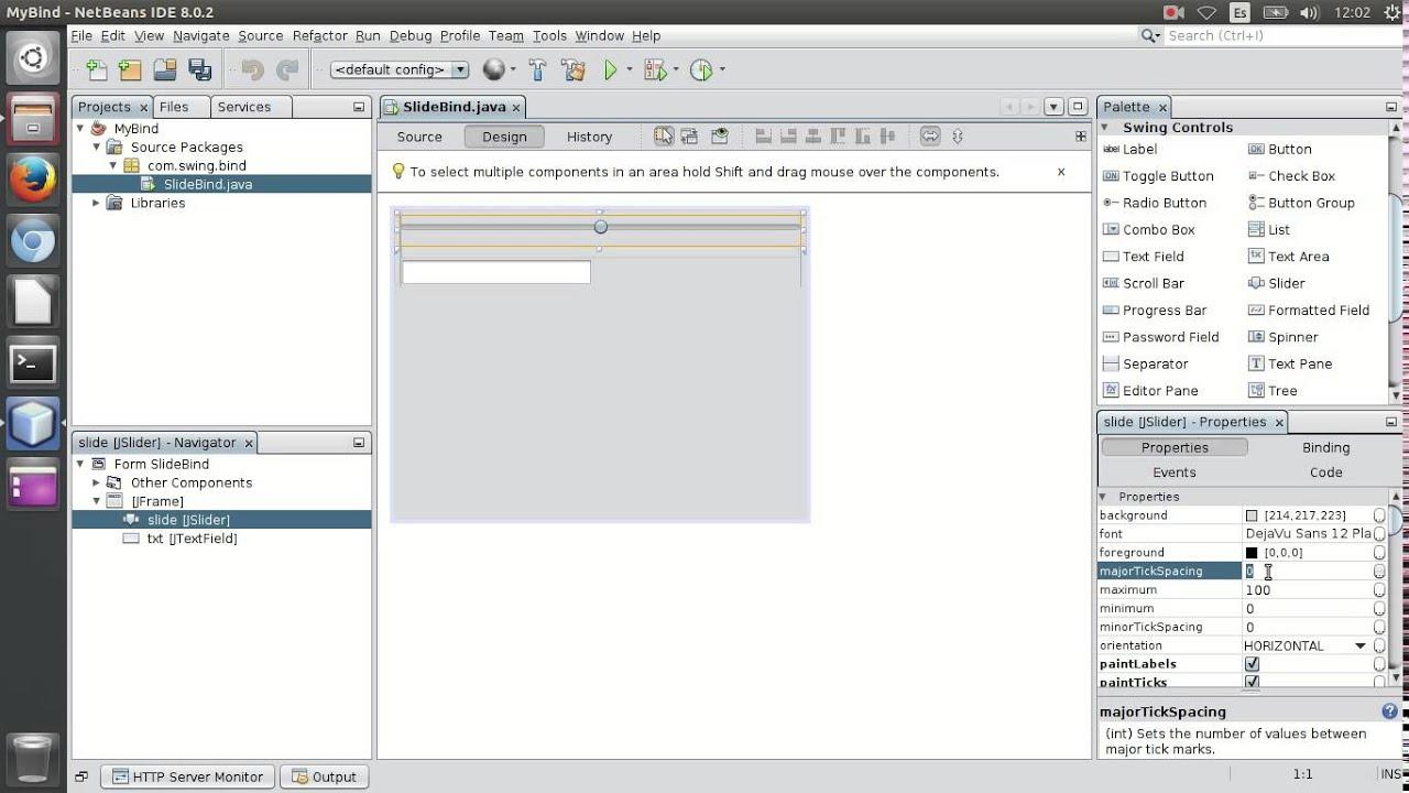Binding JSlider / JTextField
