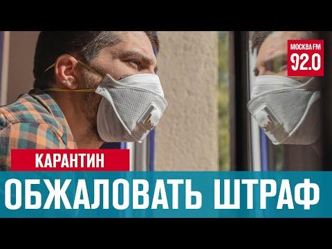 Как обжаловать штраф за нарушение самоизоляции - Москва FM