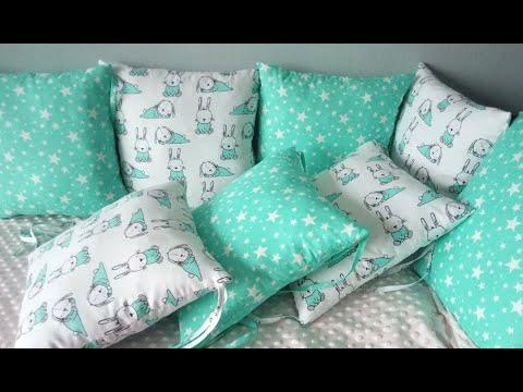 Шьем бортики в детскую кроватку своими руками выкройка