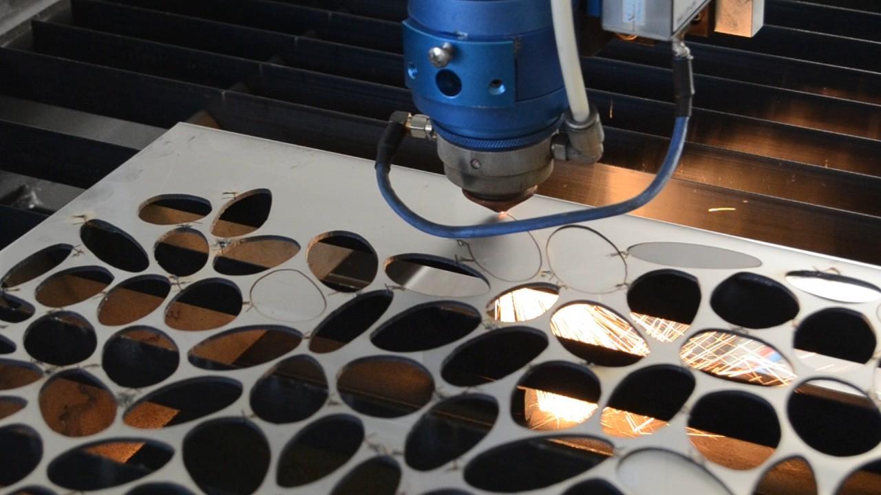 Homemade laser cutter 2mm stainless steel - YouTube