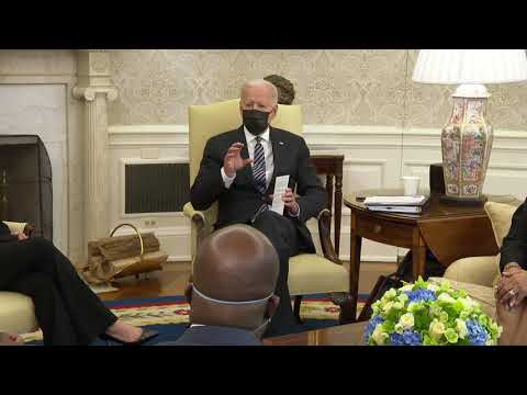 President Biden and Vice President Harris Meet with Members of the Congressional Black Caucus