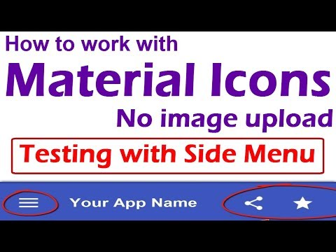 How To Use Material Icons In Android App | Creating Side Menu Design Using Material Icons #kdoular