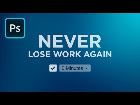 Enable Autosave In Photoshop | 2 Minute Tutorial