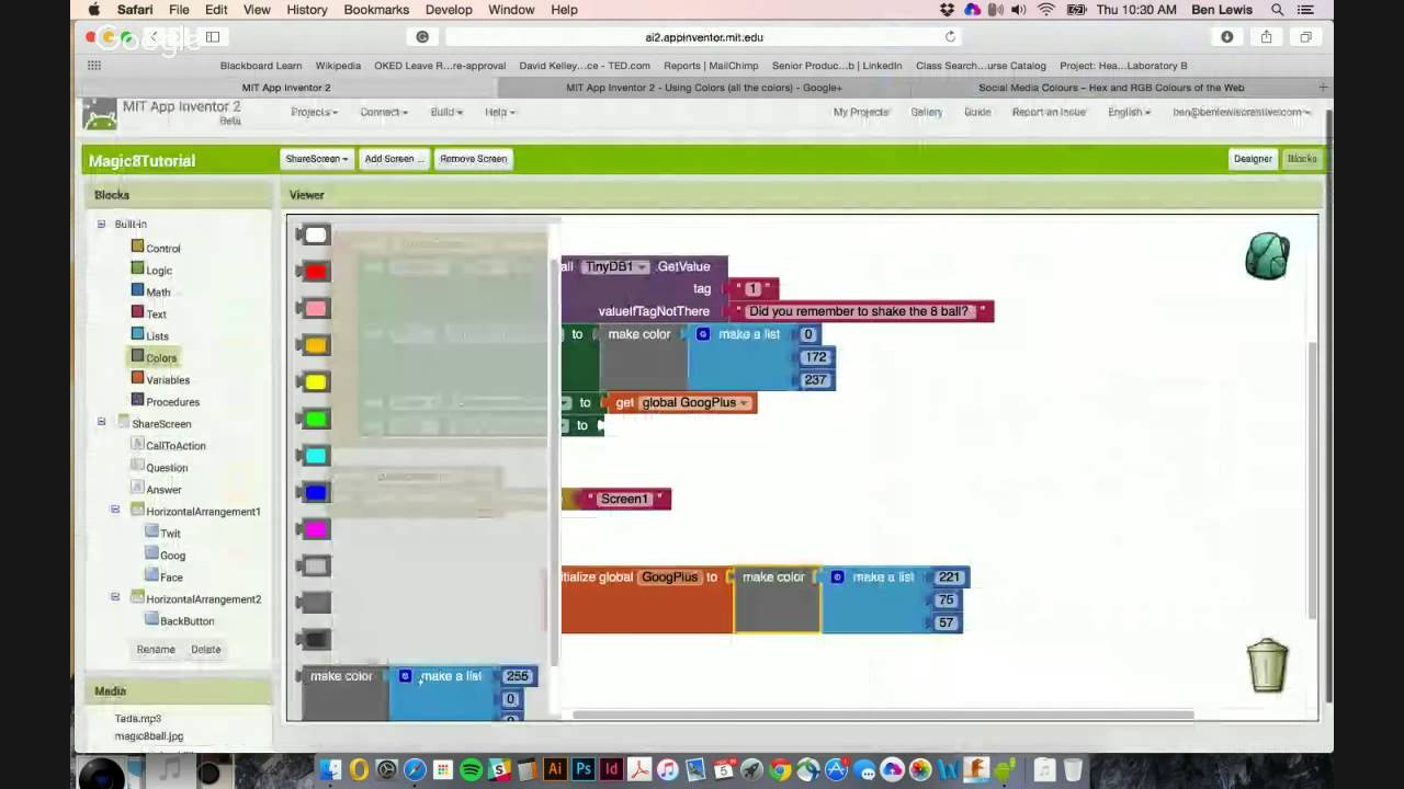 mit app inventor 2 using colors all the colors youtube - Colors App